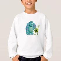 Classic Mike & Sully Waving Disney Sweatshirt