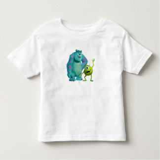 Classic Mike & Sully Waving Disney Toddler T-shirt