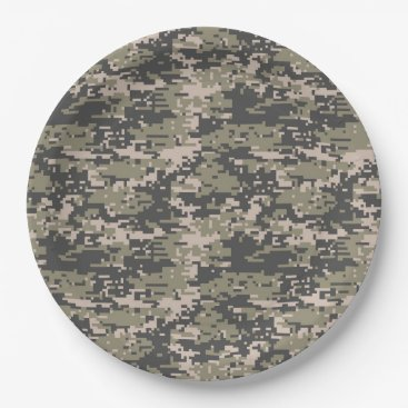 AmericanStyle Classic Military Digital Camo Pattern Paper Plate