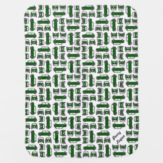 Classic Mini British Racing Green Baby Blanket