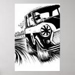 Classic Mini Racing Artwork Print
