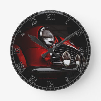 Classic Mini with rally lights Clock