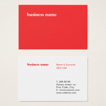font themed Classic Minimalist Design Template - Business Card