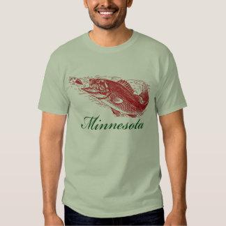 Classic Minnesota Fish Fishing Traveler Tee Shirt