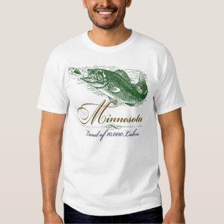 Classic Minnesota Fish, Land of 10,000 Lakes T Shirt
