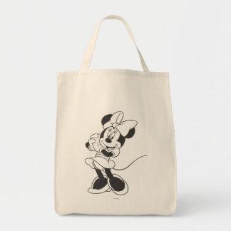 Classic Minnie | Black and White Tote Bag