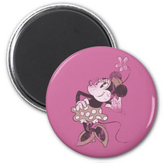 Classic Minnie | Distressed 2 Inch Round Magnet