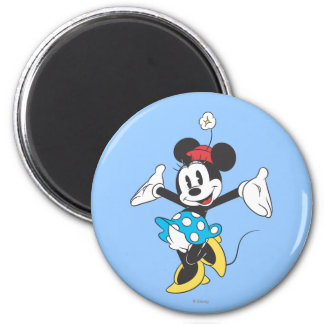Classic Minnie | Excited 2 Inch Round Magnet