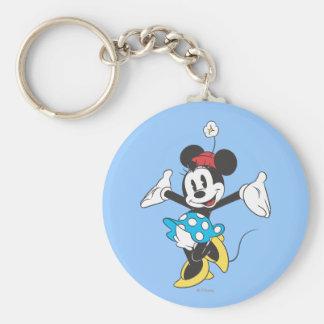 Classic Minnie | Excited Basic Round Button Keychain