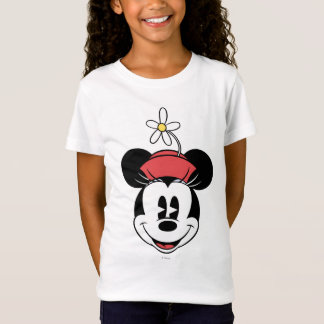 Classic Minnie   Flower Face T-Shirt