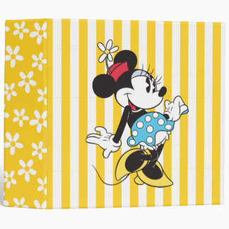 Classic Minnie Mouse 3 3 Ring Binder