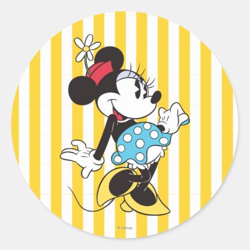 Classic Minnie Mouse 3 Round Sticker