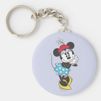 Classic Minnie Mouse 4 Basic Round Button Keychain