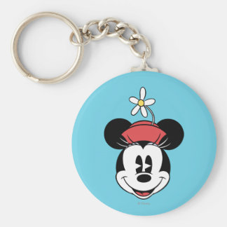 Classic Minnie Mouse 5 Basic Round Button Keychain