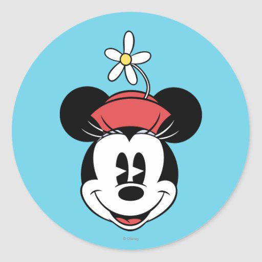 Classic Minnie Mouse 5 Round Stickers