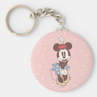 Classic Minnie Mouse 7 Basic Round Button Keychain