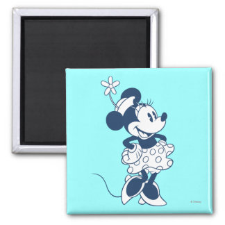 Classic Minnie Mouse Blue 1 2 Inch Square Magnet