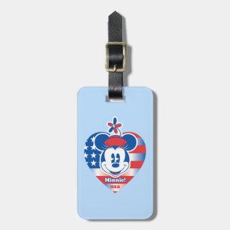 Classic Minnie | Patriotic Luggage Tag
