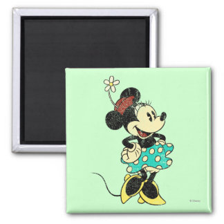 Classic Minnie | Vintage 2 Inch Square Magnet