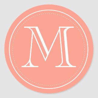 Classic Monogram Envelope Seal by Origami Prints Classic Round Sticker