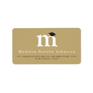 Classic Monogram Grad Graduation Address Labels