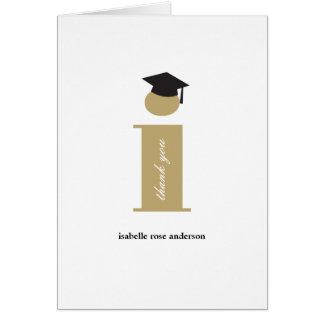 Classic Monogram I Graduation Photo Thank You Card