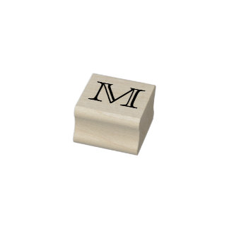 Classic Monogram Letter M 1 Inch Stamp