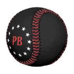 Classic Monogram White Stars Black Baseball