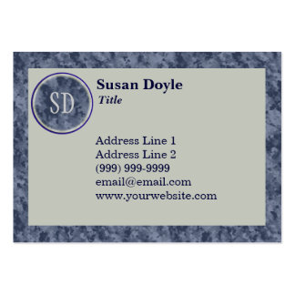 Classic Monogrammed Custom Business Cards