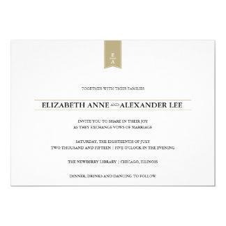 Classic Monograms Gold Wedding Invitation