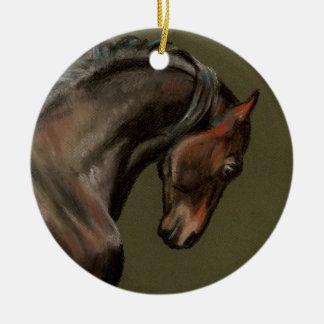 Classic Morgan Horse Ceramic Ornament
