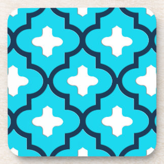 Classic Moroccan Tile, Indigo and Sky Blue Coaster