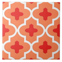 Classic Moroccan Tile, Mandarin Orange Ceramic Tile
