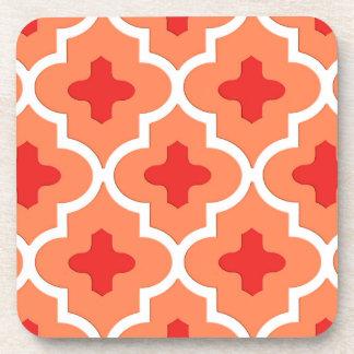 Classic Moroccan Tile, Mandarin Orange Coaster