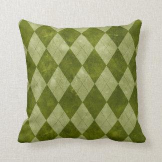 Classic Mossy Green Argyle Geometric Pattern Throw Pillow