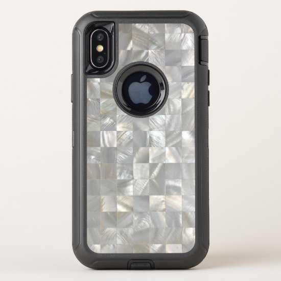 Classic Mother-of-Pearl Pattern OtterBox Defender iPhone X Case
