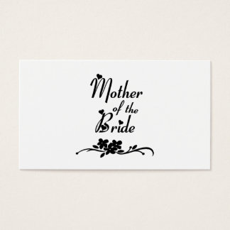 Classic Mother of the Bride Business Card