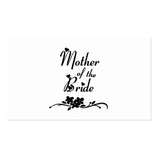 Classic Mother of the Bride Business Card Template