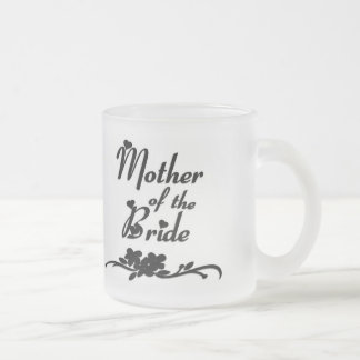 Classic Mother of the Bride Frosted Glass Coffee Mug
