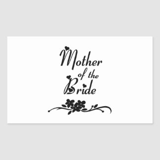 Classic Mother of the Bride Rectangular Sticker