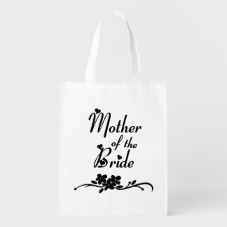 Classic Mother of the Bride Reusable Grocery Bag