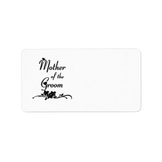 Classic Mother of the Groom Personalized Address Labels