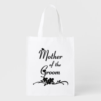 Classic Mother of the Groom Reusable Grocery Bag