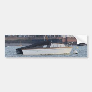 Classic Motor Boat Jane Bumper Sticker