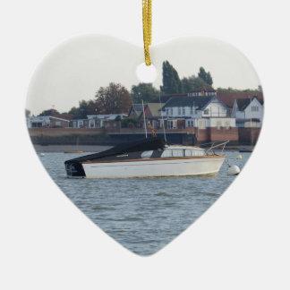 Classic Motor Boat Jane Ceramic Ornament