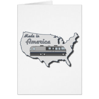 Classic Motor Home Made in America Greeting Cards