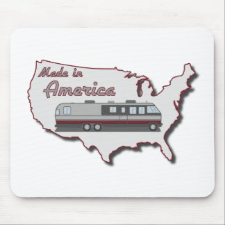 Classic Motor Home Made in America Mouse Pad