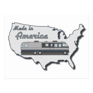 Classic Motor Home Made in America Postcard