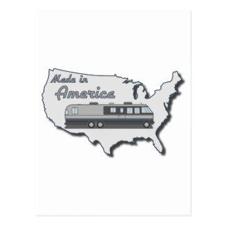 Classic Motor Home Made in America Postcards