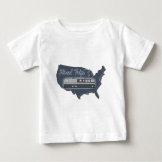 Classic Motor Home USA Road Trip Baby T-Shirt